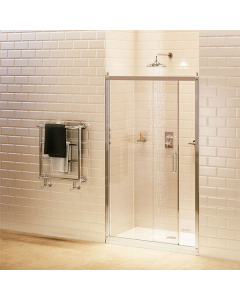 Burlington Traditional Sliding Shower Door, 1200mm Wide, 8mm Glass BU10736