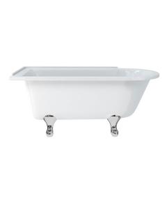 Burlington Hampton LH Freestanding Shower Bath 1500mm x 750mm Excluding Feet - E20 BU10476