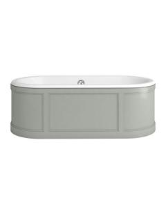 Burlington London Curved Surround Acrylic Bath 1800mm x 850mm In Olive - E22O BU10494