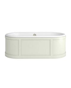 Burlington London Curved Surround Acrylic Bath 1800mm x 850mm In Sand - E22S BU10495