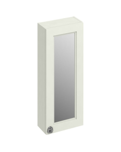 Burlington 30 Fitted 1-Door Mirrored Wall Cabinet Unit, 300mm Wide, Sand BU10434