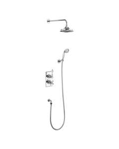 """Burlington Trent Dual Concealed Mixer Shower with Shower Kit + 12"""" Fixed Head BU10687"""