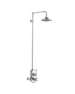 Burlington Spey Dual Exposed Mixer Shower, 9inch Fixed Head BU10673
