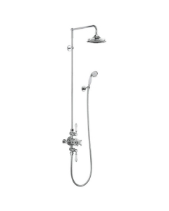Burlington Avon Triple Exposed Mixer Shower with Shower Kit + 9 BU10700