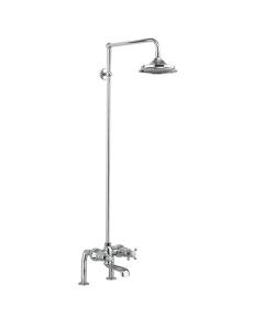 Burlington Tay Bath Shower Mixer with Rigid Riser with Fixed Head BU10712