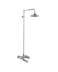 Burlington Tay WM Bath Shower Mixer with Rigid Riser with Fixed Head BU10711