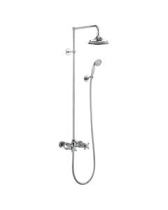 "Burlington Eden Dual Exposed Shower with Shower Kit + 9"" Fixed Head BU10691"