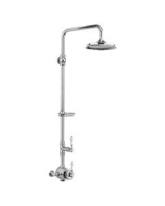 "Burlington Stour Dual Exposed Mixer Shower with 12"" Fixed Head BU10723"