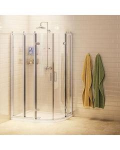 Burlington Traditional RH Offset Quadrant Shower Enclosure, 1200mm x 800mm, 8mm Glass BU10773