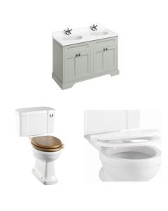 Burlington Furniture Bathroom Suite 1300mm Wide Vanity Unit Olive - 0 Tap Hole BU10877