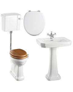 Burlington Bathroom Suite, 610mm Wide Victorian Basin, 1 Tap Hole BU10891