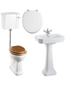 Burlington Bathroom Suite, 560mm Wide Victorian Basin, 1 Tap Hole BU10892