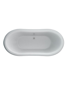 Burlington Bateau Traditional Roll Top Freestanding Slipper Bath 1640mm x 700mm Excluding Feet - T10F BU10487