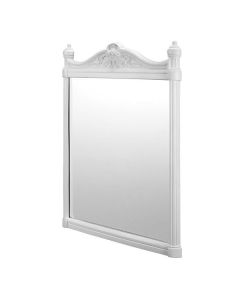 Burlington Traditional Framed Bathroom Mirror, 750mm High x 553mm Wide, White BU10807