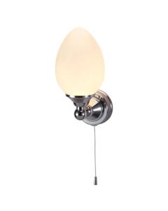 Burlington Edwardian Elliptical LED Light, 235mm High x 110mm Wide, Clear Glass BU10809