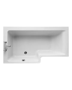 Ideal Standard Concept L-Shaped Shower Bath 1500mm X 700mm/850mm Left Handed 0 Tap Hole - E049501 - E049501 IS10341