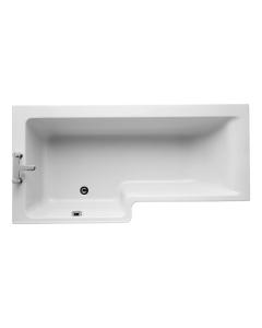 Ideal Standard Concept Idealform L-Shaped Shower Bath Left Hand 1700mm X 700mm/850mm 0 Tap Hole - E051201 - E051201 IS10339