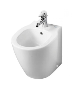 Ideal Standard Concept Space Compact Floorstanding Back to Wall Bidet 400mm x 360mm 1 Tap Hole - E120901 IS10656