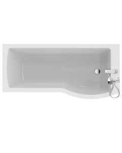 Ideal Standard Tempo Arc Shower Bath Right Handed 1700mm x 700mm/800mm 0 Tap Hole - E256701 IS10308