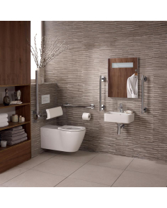 Ideal Standard Concept Doc M Pack with Wall Hung Disabled Toilet and 400mm Basin White - S6404AA - S6404AA IS10643