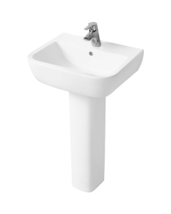 Ideal Standard Tempo Basin and Full Pedestal 550mm Wide 1 Tap Hole IS10155
