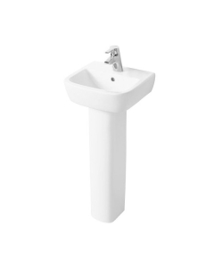 Ideal Standard Tempo Handrinse Basin and Full Pedestal 400mm Wide 1 Tap Hole IS10145