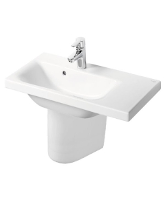 Ideal Standard Concept Space Right Hand Basin and Semi Pedestal 600mm x 380mm 1 Tap Hole IS10275
