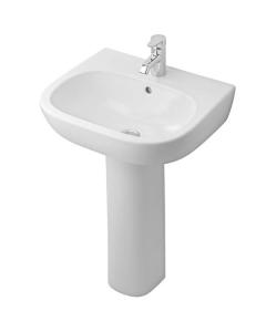 Ideal Standard Jasper Morrison Basin and Full Pedestal 550mm Wide 1 Tap Hole IS10282