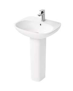 Ideal Standard Tesi Basin with Full Pedestal 550mm Wide - 1 Tap Hole IS10180