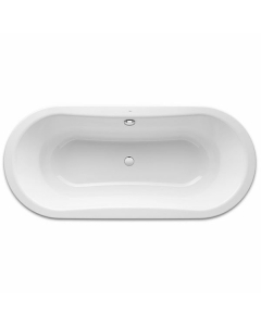 Roca Duo Oval Plus Double Ended Freestanding Steel Bath 1800mm x 800mm 0 Tap Hole - 222565000 RO10479