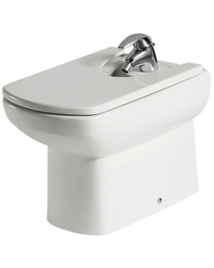 Roca Senso Compact Back to Wall Bidet, 570mm Projection, 1 Tap Hole RO10239