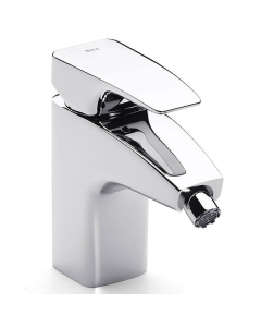Roca Thesis Bidet Mixer Tap with Retractable Chain In Chrome - 5A6150C00 RO10587