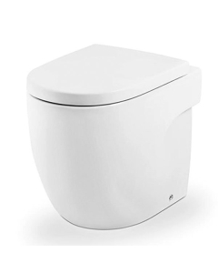 Roca Meridian-N Back to Wall Toilet, 520mm Projection, Soft Close Seat RO10135