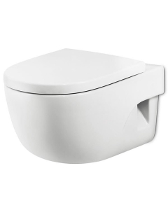 Roca Meridian-N Compact Wall Hung Toilet, 480mm Projection, Soft Close Seat RO10154
