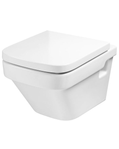 Roca Dama-N Compact Wall Hung Toilet, 500mm Projection, Soft Close Seat RO10100