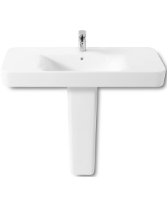 Roca Senso Square Basin and Full Pedestal, 1000mm Wide, 1 Tap Hole RO10254