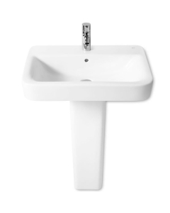 Roca Senso Square Basin and Full Pedestal, 550mm Wide, 1 Tap Hole RO10231