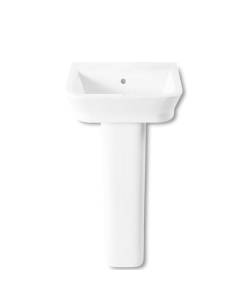Roca The Gap Wall Hung Basin with Full Pedestal 450mm W - 0 Tap Hole RO10017