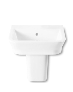 Roca The Gap Wall Hung Basin with Semi Pedestal 550mm W - 0 Tap Hole RO10057