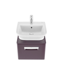 Roca The Gap 1-Drawer Bathroom Vanity Unit with Basin 450mm W - Matt Grape RO10367