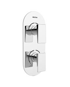 Bristan Designer Sail Thermostatic Recessed Dual Control Shower Valve with Two Outlet Diverter - Chrome SAI SHCDIV C