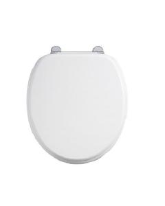 Burlington Standard Carbamide Toilet Seat, Standard Hinges, White BU10821