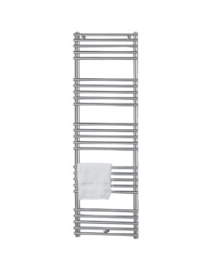 Vogue Tune Heated Towel Rail 1186mm High x 500mm Wide, Central Heating - MD003 MS1186500CP MD003 MS1186500CP