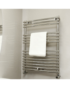 Vogue Stella Heated Towel Rail 800mm High x 600mm Wide, Electric - MD034 SS0800600PS-E MD034 SS0800600PS-E