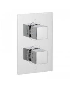 Vado Mix 2 Outlet 2 Handle Thermostatic Shower Valve Wall Mounted - Mix-148D/2-C/P VADO1606