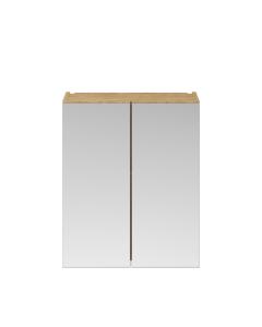 Nuie Athena Natural Oak Contemporary 600mm Mirror Unit (50/50) - MOC623 MOC623