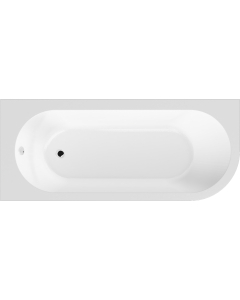Nuie Crescent White Contemporary Left Hand Back To Wall Corner Bath - NBH209L NBH209L