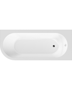 Nuie Crescent White Contemporary Right Hand Back To Wall Corner Bath - NBH209R NBH209R