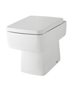 Nuie Bliss White Contemporary Back to Wall Pan - NCH106B NCH106B