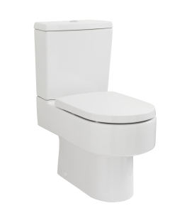 Nuie Ambrose White Contemporary Semi Flush to Wall WC - CPV006 CPV006